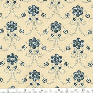 *Marcus Fabrics* Georgetown Lacy Vine blue
