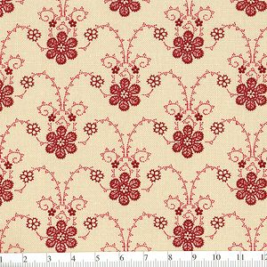 *Marcus Fabrics* Georgetown Lacy Vine red