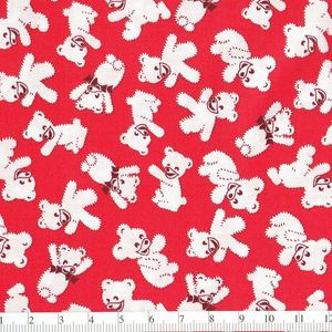 *Windham Fabrics* Story Book Play Time bear red