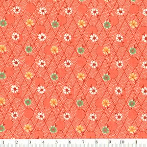 *Marcus Fabrics* Aunt's Grace Miniatures rhombus orange
