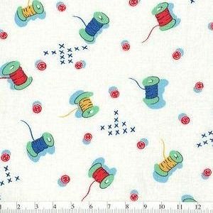 *Marcus Fabrics* Aunt's Grace Miniatures Terrier red