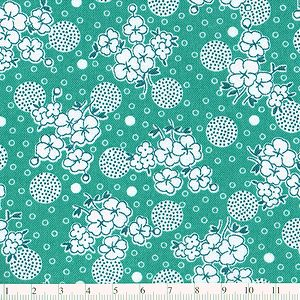 【10%OFF】*R.J.R* Everything But The Kitchen Sink Floral teal green