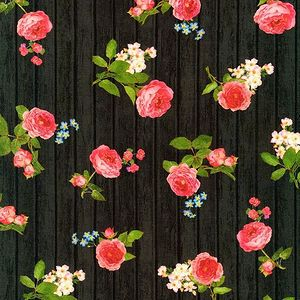 *ROBERT KAUFMAN* Farmhouse Rose black 45×54