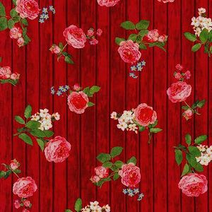 *ROBERT KAUFMAN* Farmhouse Rose red 45×54