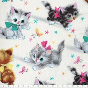 *Michael Miller*Little Kitties cream 45×54
