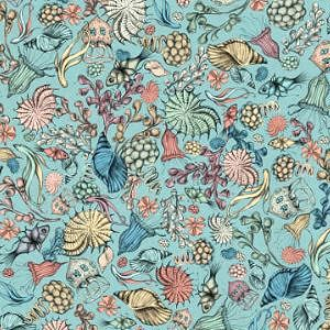 【10%OFF】*Santoro London* Mirabelle Midnight Garden Flower blue45×54
