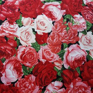 *Timeless Treasures* Rose Garden 45×54