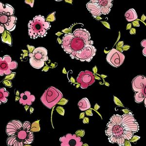 *Loralie Designs* Love Your Look Salon Parlor Posies black 45×54