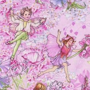 *Michael Miller* Flower Fairies Allover Fairies pink 45×110