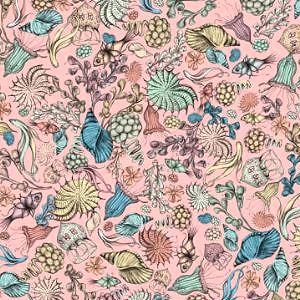 【10%OFF】*Santoro London*  Mirabelle Midnight Garden Flower pink45×54