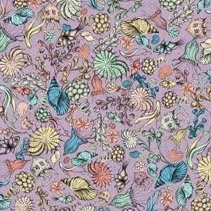 【10%OFF】*Santoro London*  Mirabelle Midnight Garden Flower purple45×54