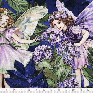*Michael Miller* Night Flower Fairies ダブルボーダー 45×110